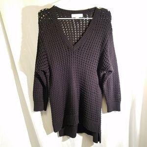 MICHAEL KORS Open Knit Sweater/Tunic, size Large